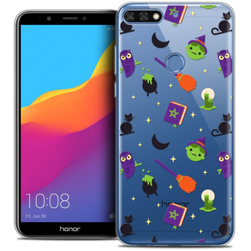 "Coque Crystal Gel Honor 7C (5.99"") Extra Fine Halloween - Witch Potter"