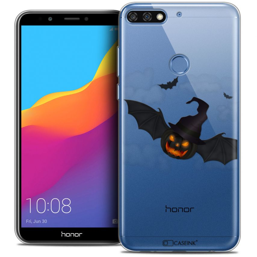 "Coque Crystal Gel Honor 7C (5.99"") Extra Fine Halloween - Chauve Citrouille"