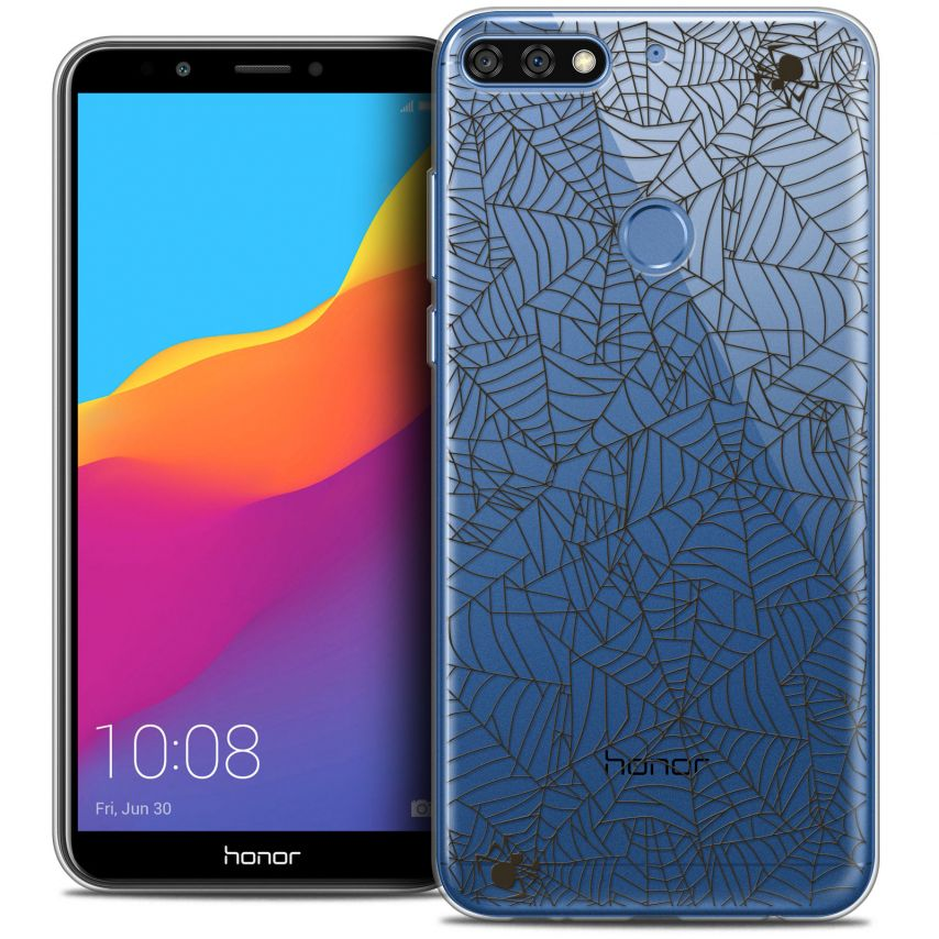 "Coque Crystal Gel Honor 7C (5.99"") Extra Fine Halloween - Spooky Spider"