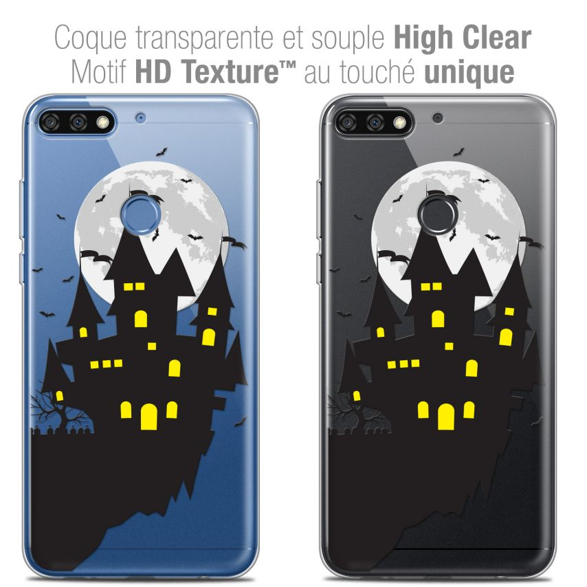 "Coque Crystal Gel Honor 7C (5.99"") Extra Fine Halloween - Castle Dream"
