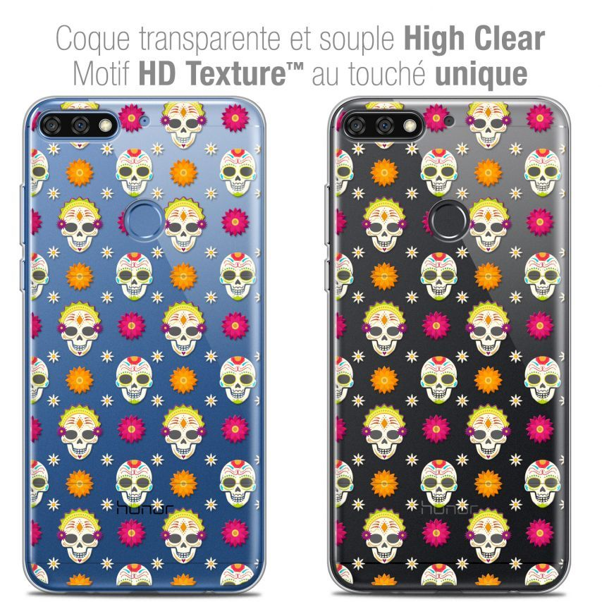 "Coque Crystal Gel Honor 7C (5.99"") Extra Fine Halloween - Skull Halloween"
