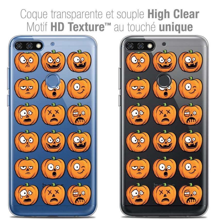 "Coque Crystal Gel Honor 7C (5.99"") Extra Fine Halloween - Cartoon Citrouille"