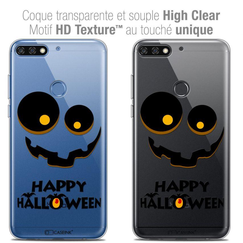 "Coque Crystal Gel Honor 7C (5.99"") Extra Fine Halloween - Happy"