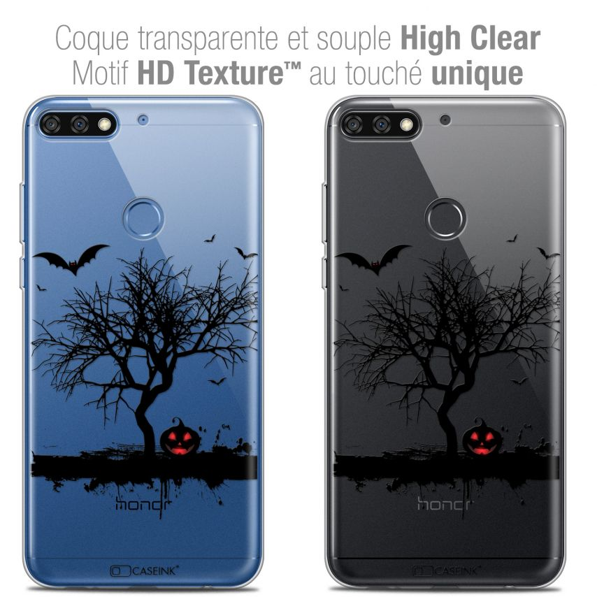 "Coque Crystal Gel Honor 7C (5.99"") Extra Fine Halloween - Devil's Tree"