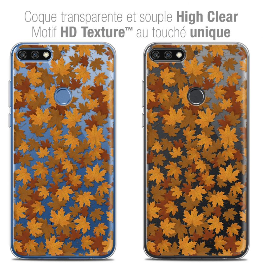 "Coque Crystal Gel Honor 7C (5.99"") Extra Fine Autumn 16 - Feuilles"