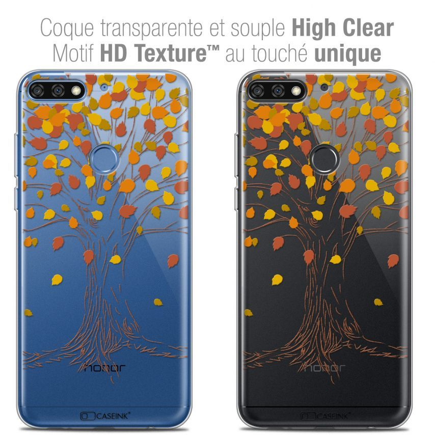 "Coque Crystal Gel Honor 7C (5.99"") Extra Fine Autumn 16 - Tree"