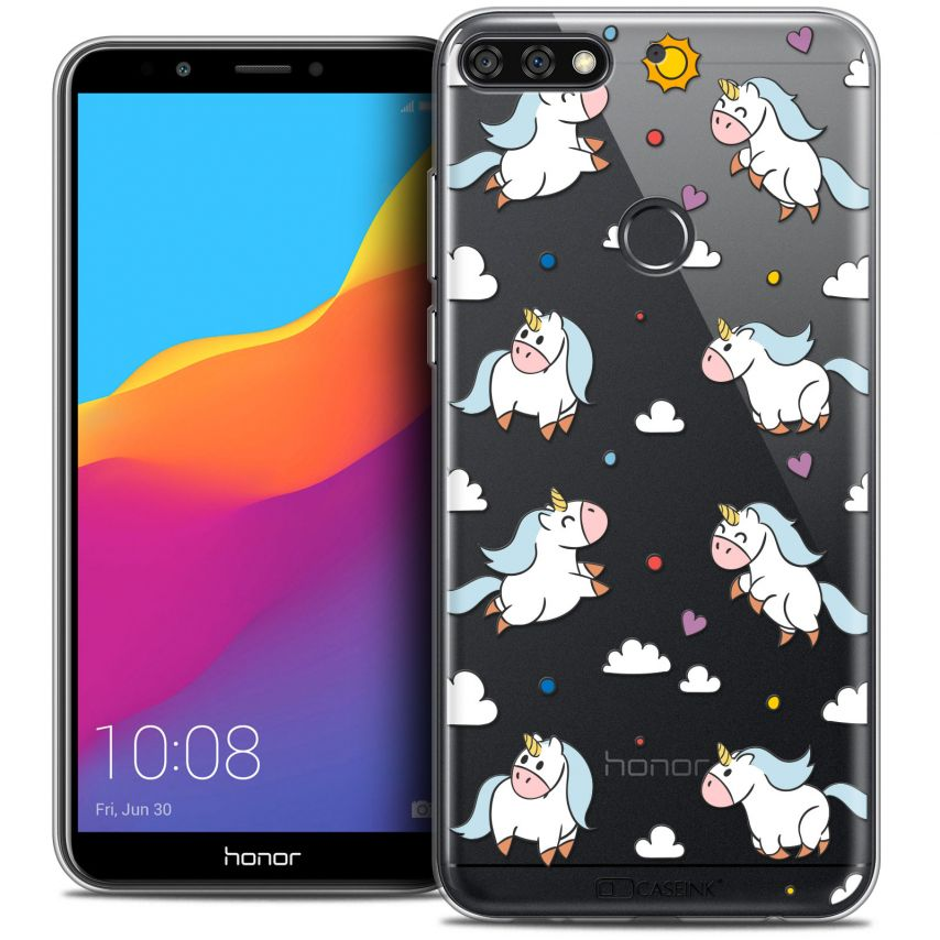 "Coque Crystal Gel Honor 7C (5.99"") Extra Fine Fantasia - Licorne In the Sky"