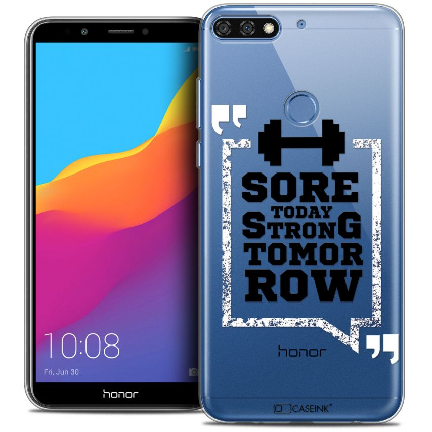 "Coque Crystal Gel Honor 7C (5.99"") Extra Fine Quote - Strong Tomorrow"