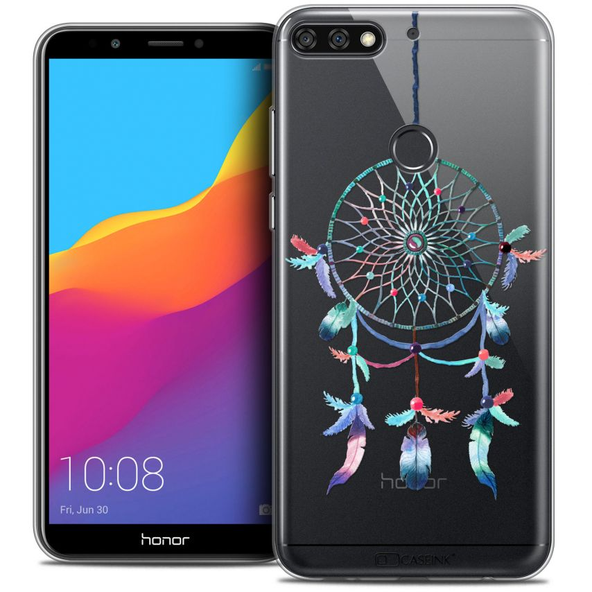 "Coque Crystal Gel Honor 7C (5.99"") Extra Fine Dreamy - Attrape Rêves Rainbow"