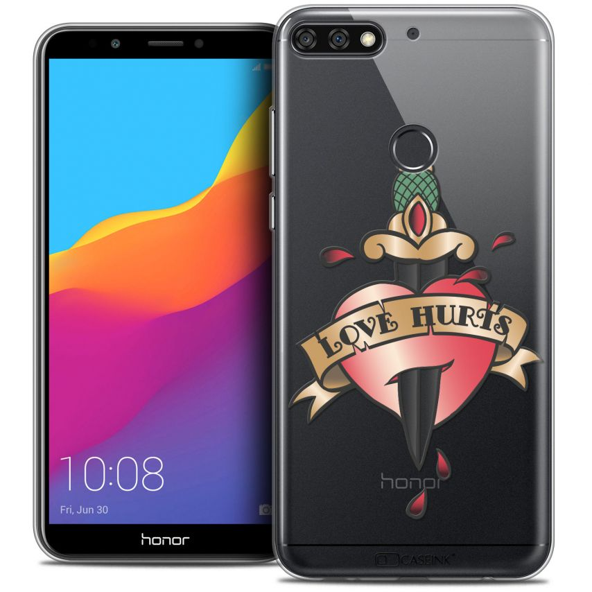 """Coque Crystal Gel Honor 7C (5.99"""") Extra Fine Tatoo Lover - Love Hurts"""