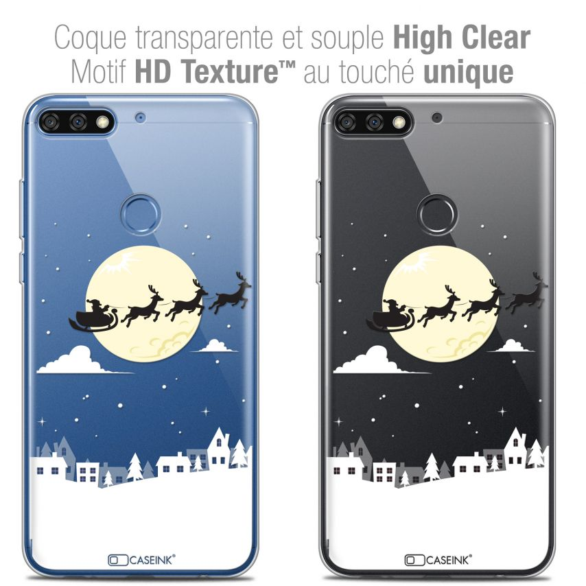 "Coque Crystal Gel Honor 7C (5.99"") Extra Fine Noël 2017 - Flying Stanta"