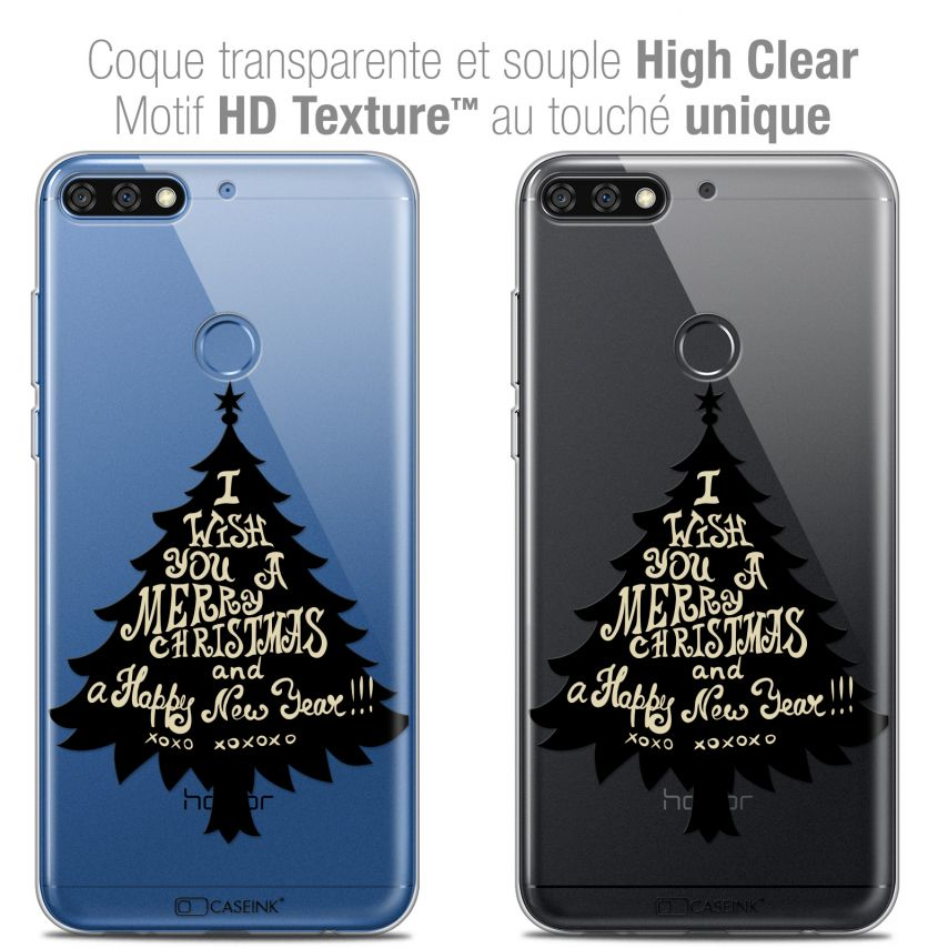 "Coque Crystal Gel Honor 7C (5.99"") Extra Fine Noël 2017 - XOXO Tree"