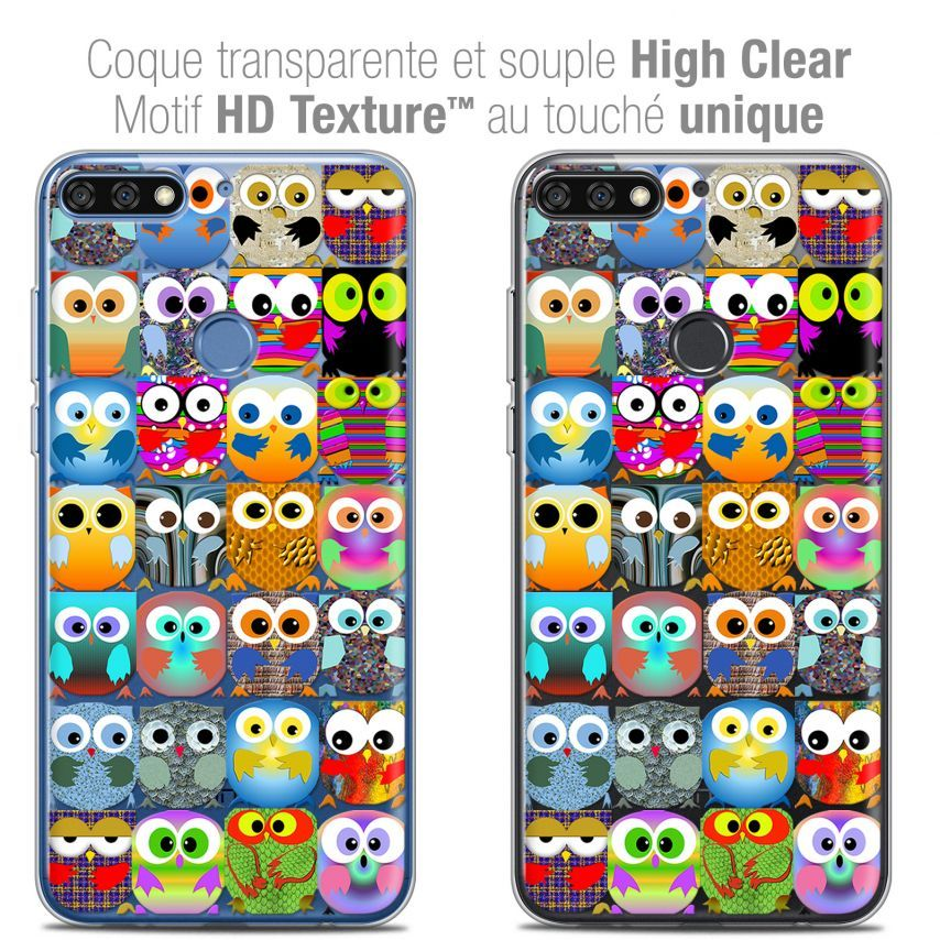 "Coque Crystal Gel Honor 7C (5.99"") Extra Fine Claude - Hibous"