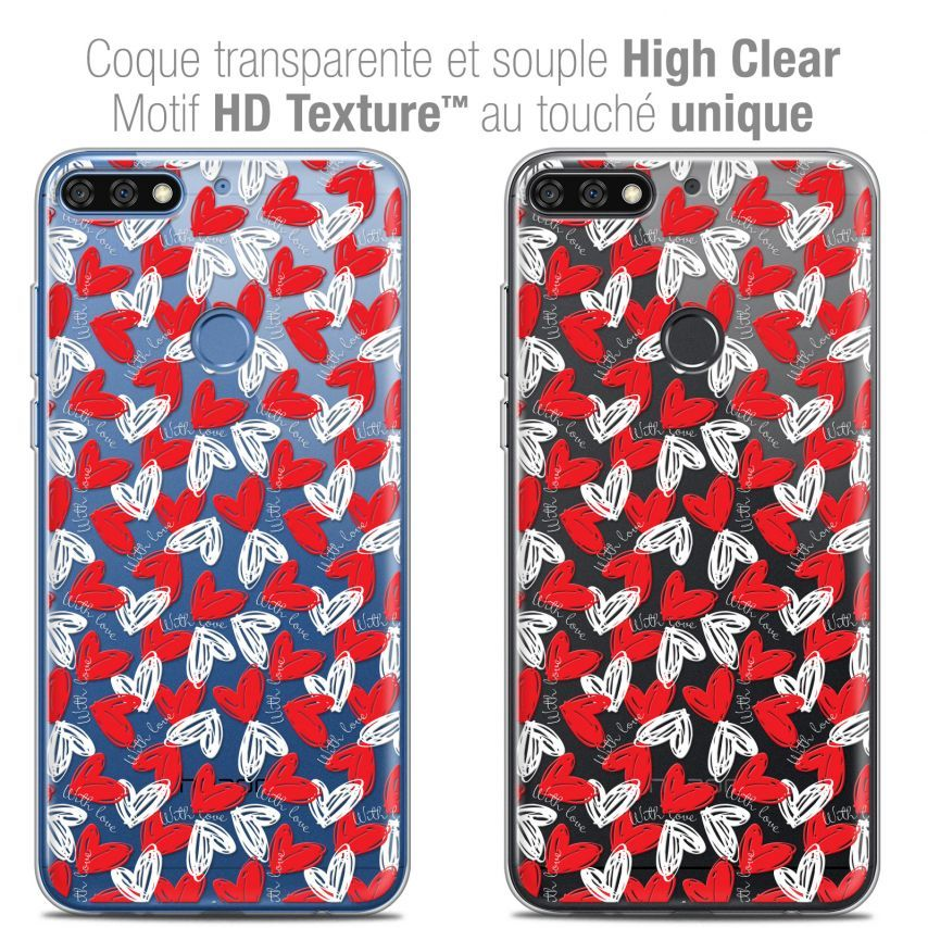 "Coque Crystal Gel Honor 7C (5.99"") Extra Fine Love - With Love"