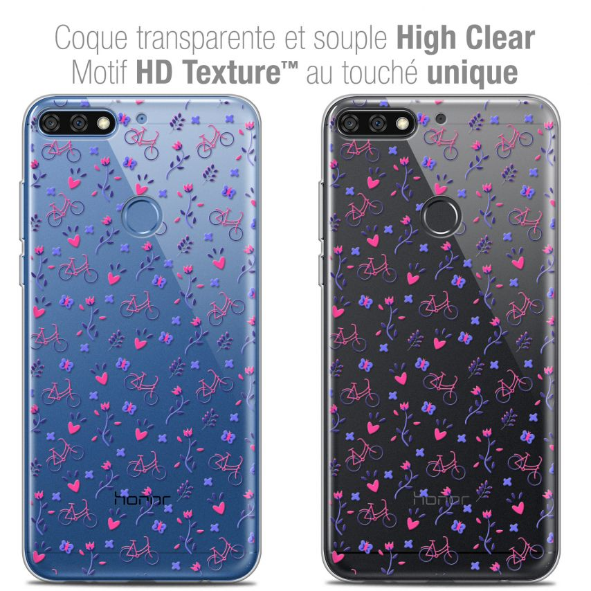 "Coque Crystal Gel Honor 7C (5.99"") Extra Fine Love - Bicycle"