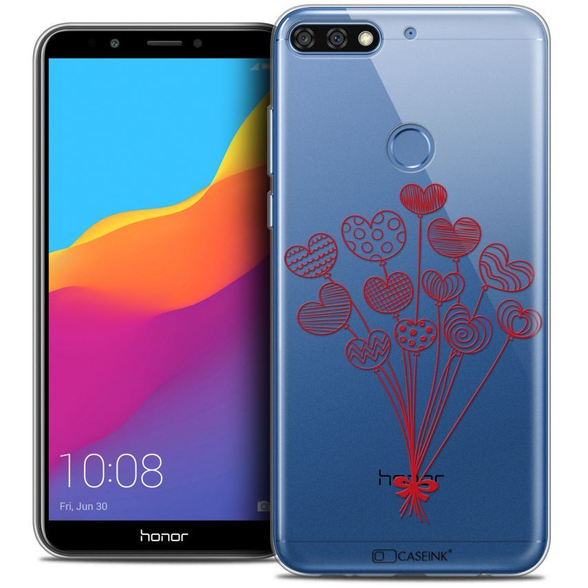 """Coque Crystal Gel Honor 7C (5.99"""") Extra Fine Love - Ballons d'amour"""