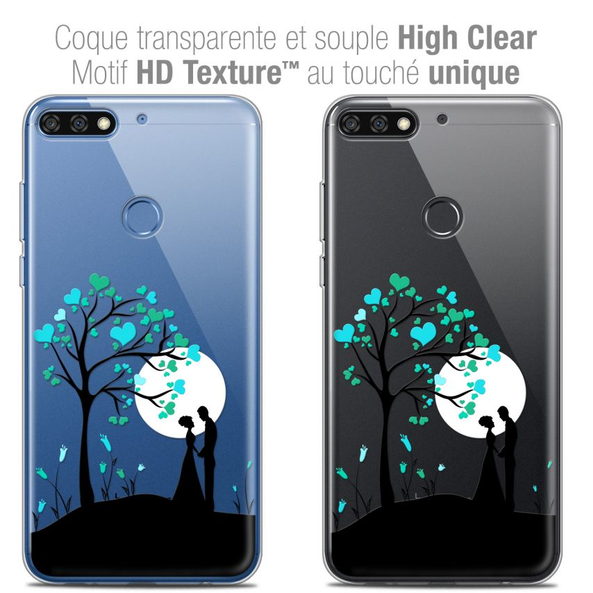 "Coque Crystal Gel Honor 7C (5.99"") Extra Fine Love - Sous l'arbre"