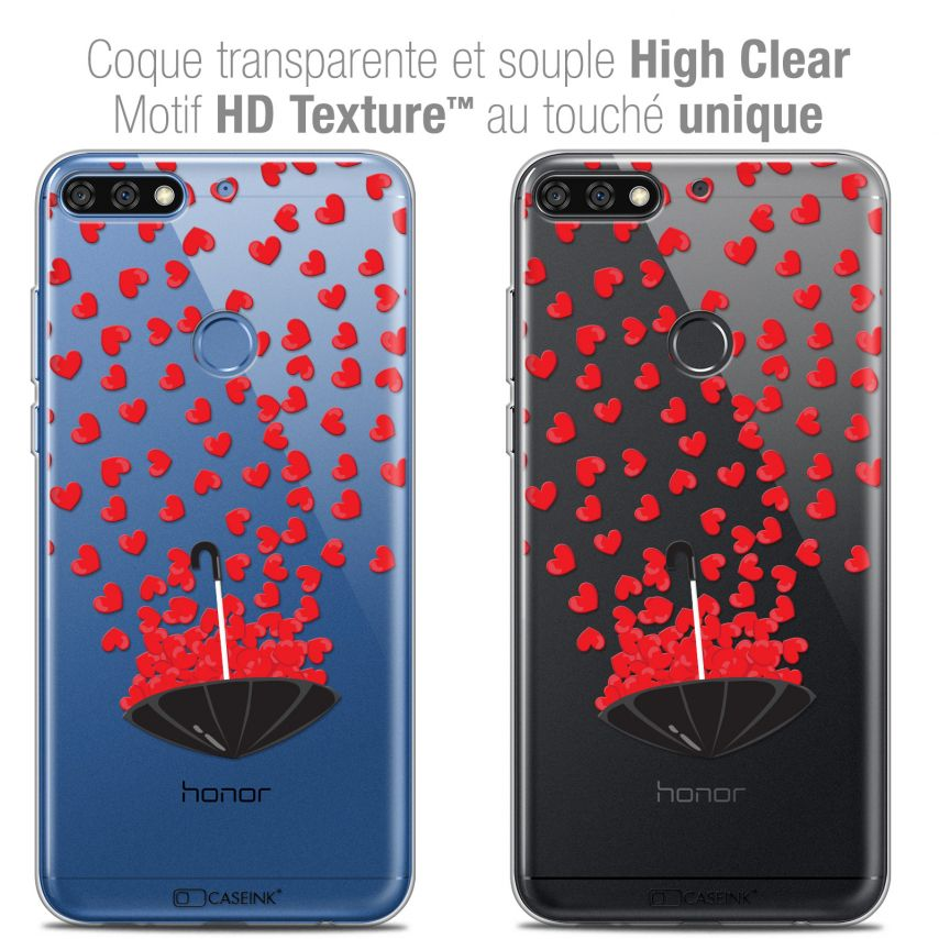 "Coque Crystal Gel Honor 7C (5.99"") Extra Fine Love - Parapluie d'Amour"