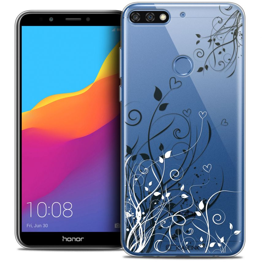 """Coque Crystal Gel Honor 7C (5.99"""") Extra Fine Love - Hearts Flowers"""