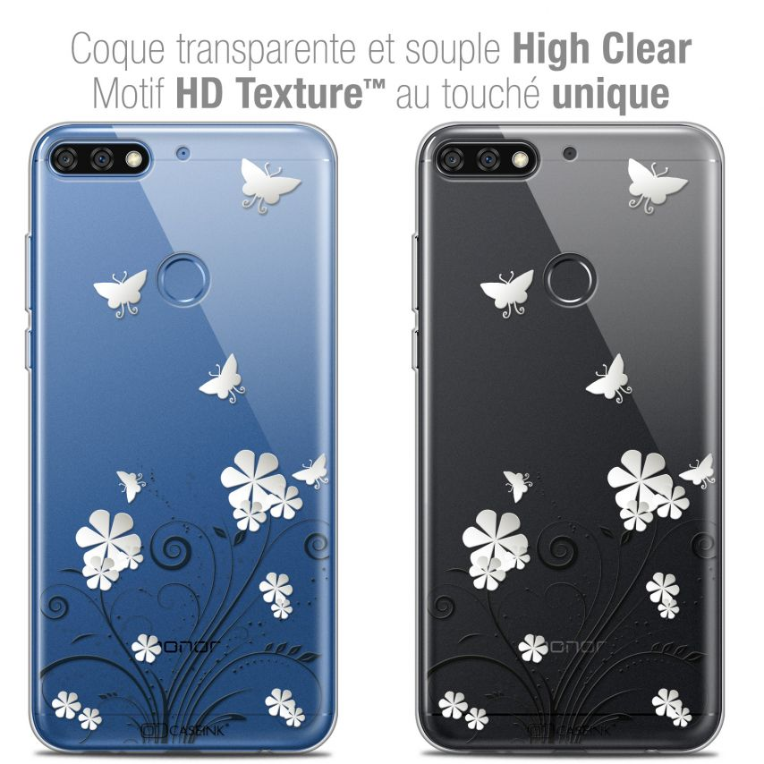 "Coque Crystal Gel Honor 7C (5.99"") Extra Fine Summer - Papillons"
