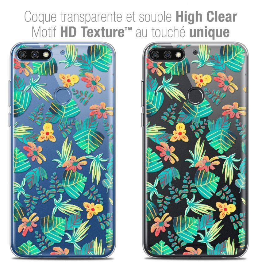 "Coque Crystal Gel Honor 7C (5.99"") Extra Fine Spring - Tropical"
