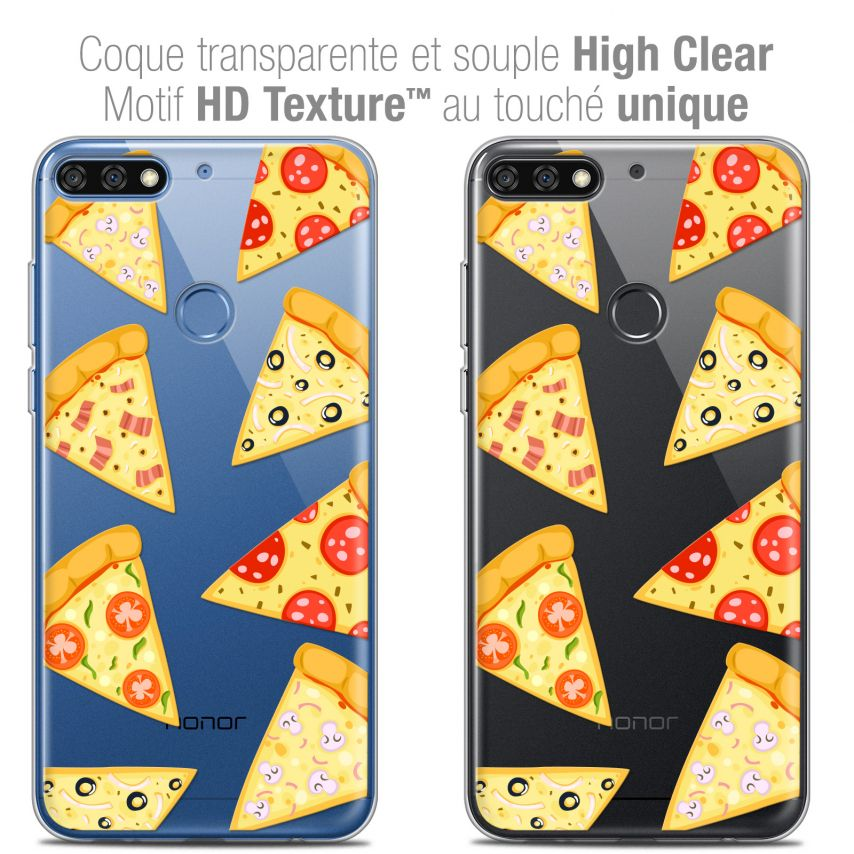 "Coque Crystal Gel Honor 7C (5.99"") Extra Fine Foodie - Pizza"
