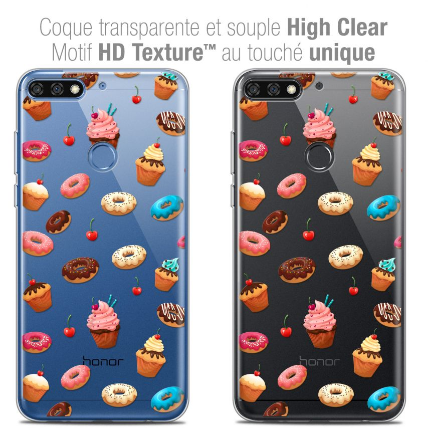 """Coque Crystal Gel Honor 7C (5.99"""") Extra Fine Foodie - Donuts"""