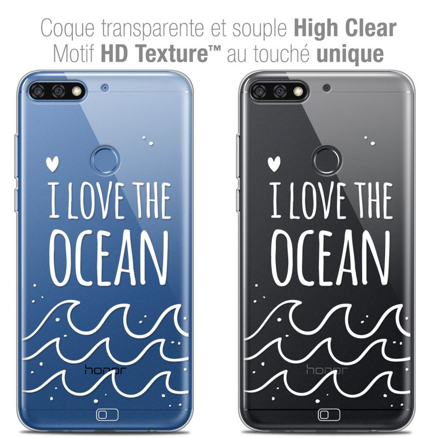 "Coque Crystal Gel Honor 7C (5.99"") Extra Fine Summer - I Love Ocean"