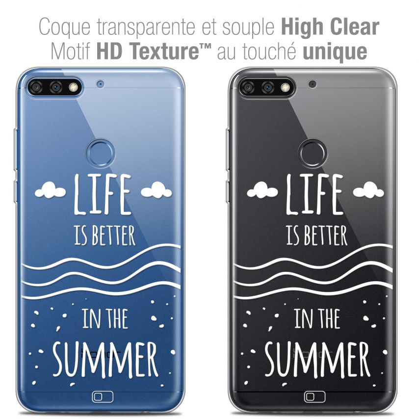 """Coque Crystal Gel Honor 7C (5.99"""") Extra Fine Summer - Life's Better"""
