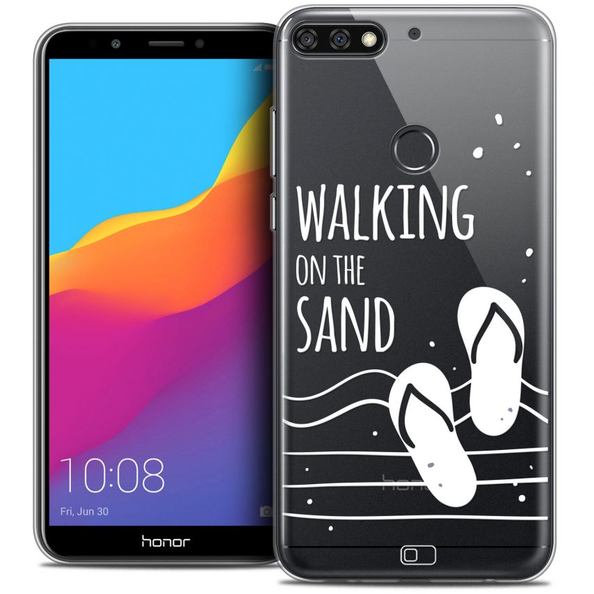 "Coque Crystal Gel Honor 7C (5.99"") Extra Fine Summer - Walking on the Sand"