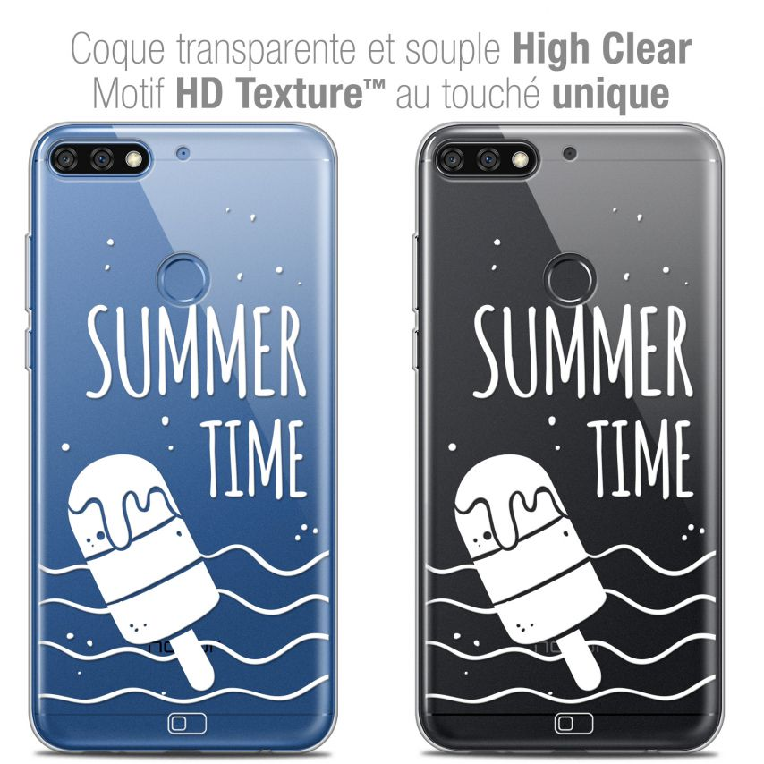 "Coque Crystal Gel Honor 7C (5.99"") Extra Fine Summer - Summer Time"