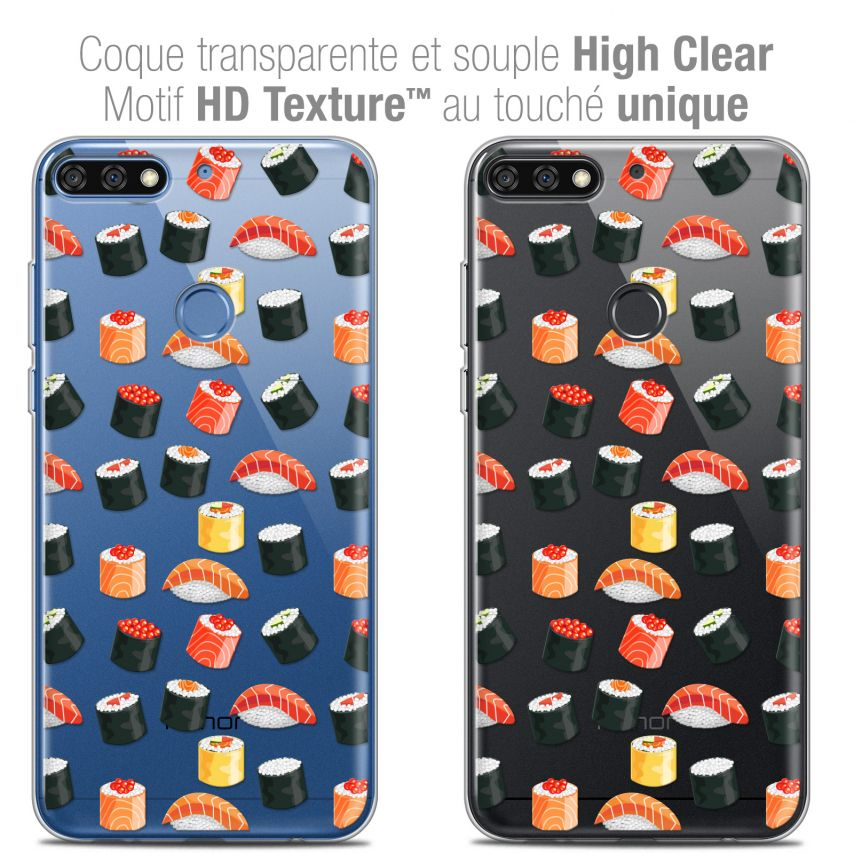 "Coque Crystal Gel Honor 7C (5.99"") Extra Fine Foodie - Sushi"