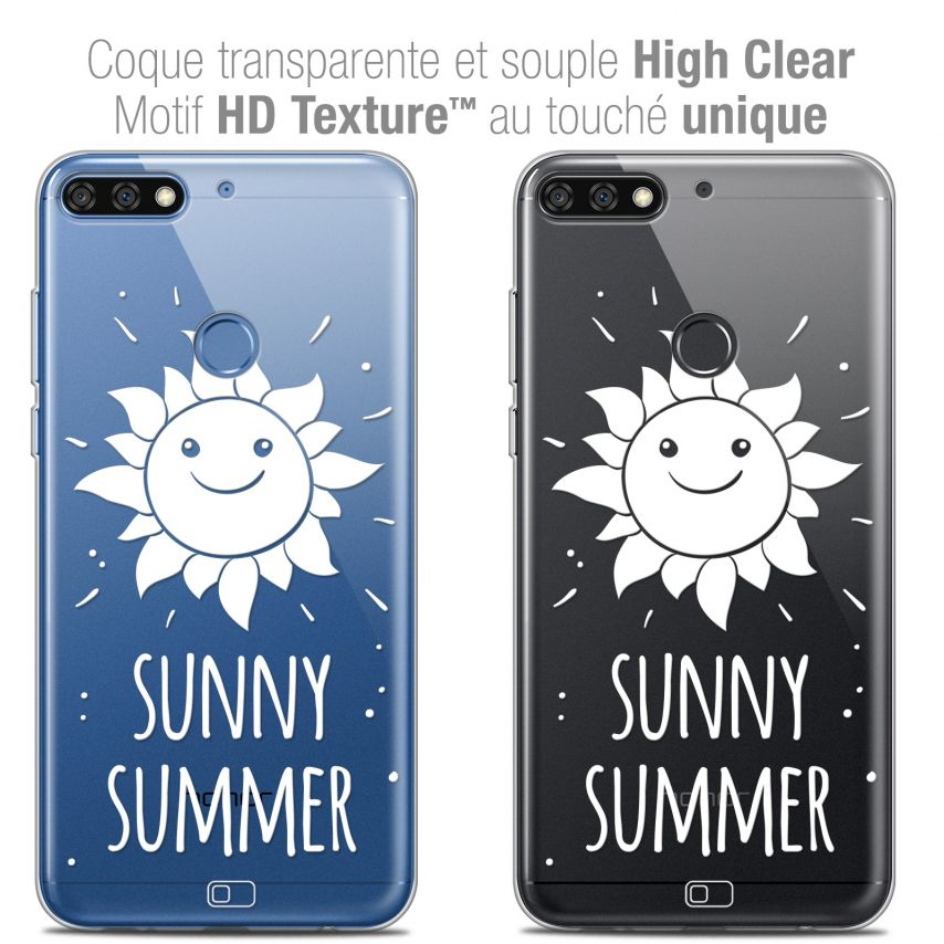 "Coque Crystal Gel Honor 7C (5.99"") Extra Fine Summer - Sunny Summer"