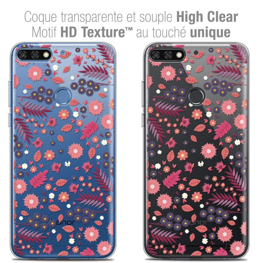 "Coque Crystal Gel Honor 7C (5.99"") Extra Fine Spring - Printemps"