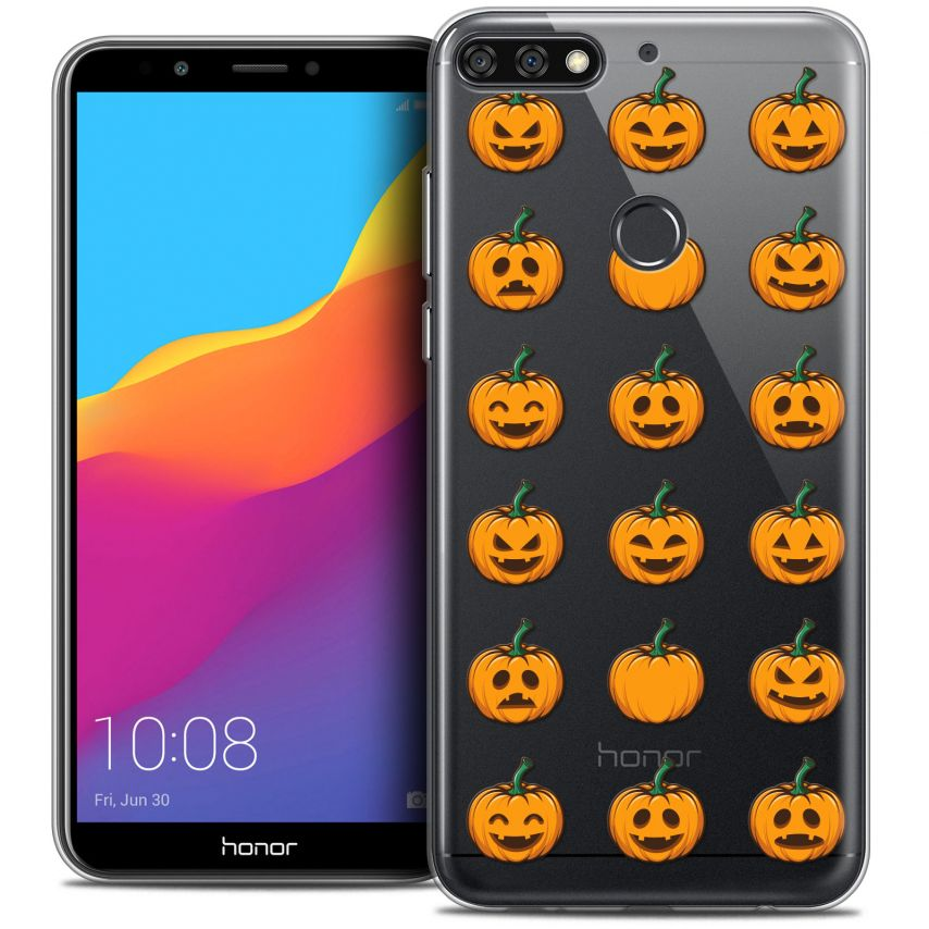 "Coque Crystal Gel Honor 7C (5.99"") Extra Fine Halloween - Smiley Citrouille"