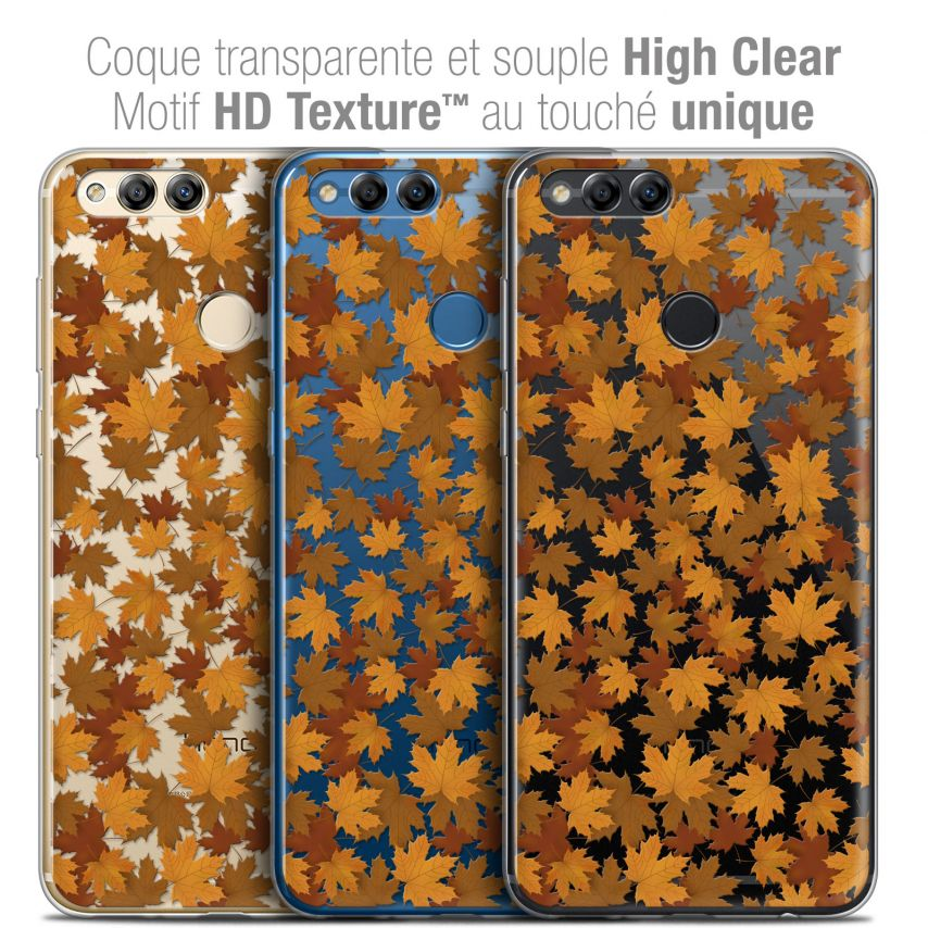"Coque Crystal Gel Honor 7X (5.9"") Extra Fine Autumn 16 - Feuilles"