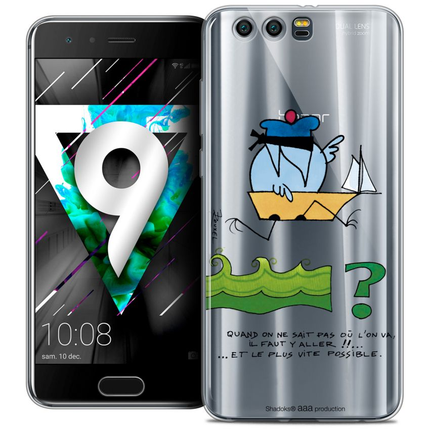 """Coque Gel Huawei Honor 9 (5.15"""") Extra Fine Les Shadoks® - Il Faut Y Aller !!"""