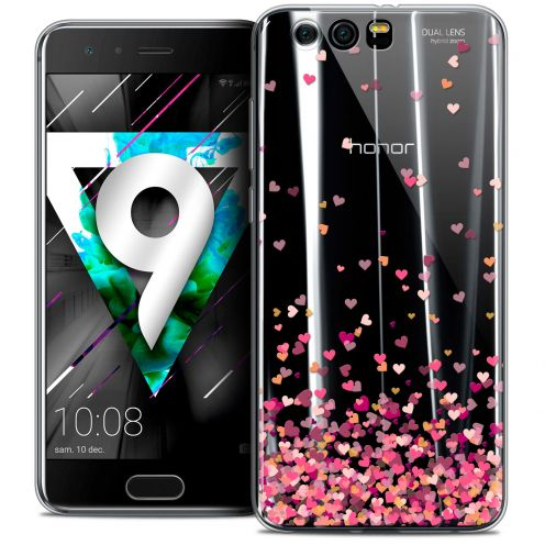 """Coque Crystal Gel Huawei Honor 9 (5.15"""") Extra Fine Sweetie - Heart Flakes"""