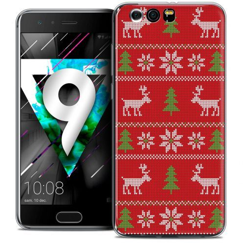 """Coque Crystal Gel Huawei Honor 9 (5.15"""") Extra Fine Noël 2017 - Couture Rouge"""