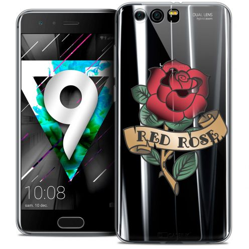 """Coque Crystal Gel Huawei Honor 9 (5.15"""") Extra Fine Tatoo Lover - Red Rose"""