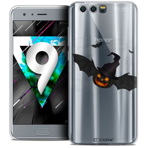 """Coque Crystal Gel Huawei Honor 9 (5.15"""") Extra Fine Halloween - Chauve Citrouille"""