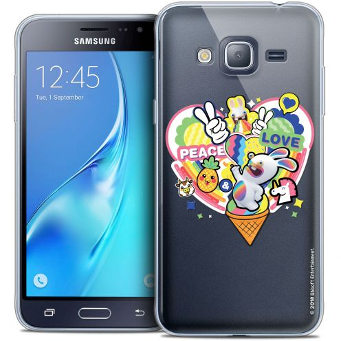 Coque Samsung Galaxy J3 2016 (J320) Extra Fine Lapins Crétins™ - Peace And Love