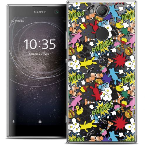 "Coque Gel Sony Xperia XA2 (5.2"") Extra Fine Lapins Crétins™ - Bwaaah Pattern"