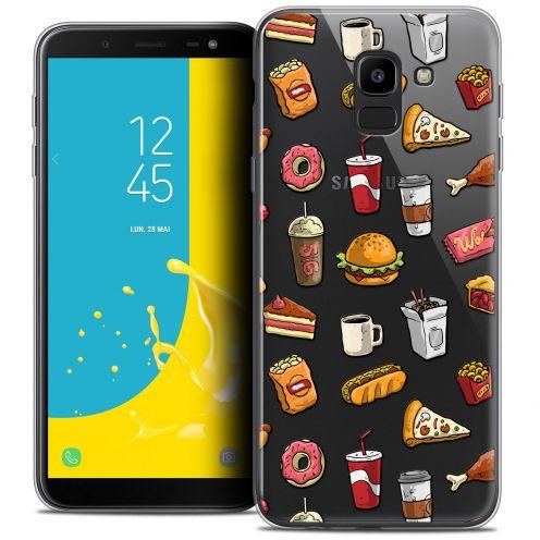 """Coque Crystal Gel Samsung Galaxy J6 2018 J600 (5.6"""") Extra Fine Foodie - Fast Food"""
