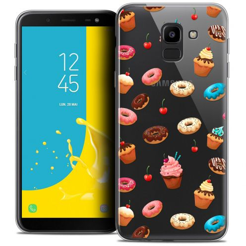 "Coque Crystal Gel Samsung Galaxy J6 2018 J600 (5.6"") Extra Fine Foodie - Donuts"