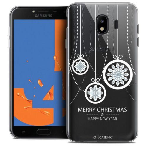 "Coque Crystal Gel Samsung Galaxy J4 2018 J400 (5.5"") Extra Fine Noël 2017 - Christmas Balls"