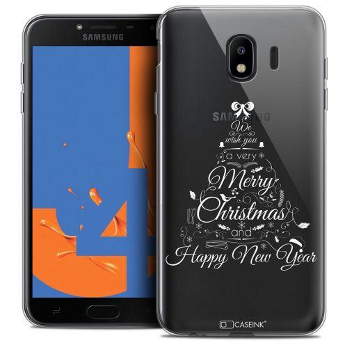 "Coque Crystal Gel Samsung Galaxy J4 2018 J400 (5.5"") Extra Fine Noël 2017 - Calligraphie"