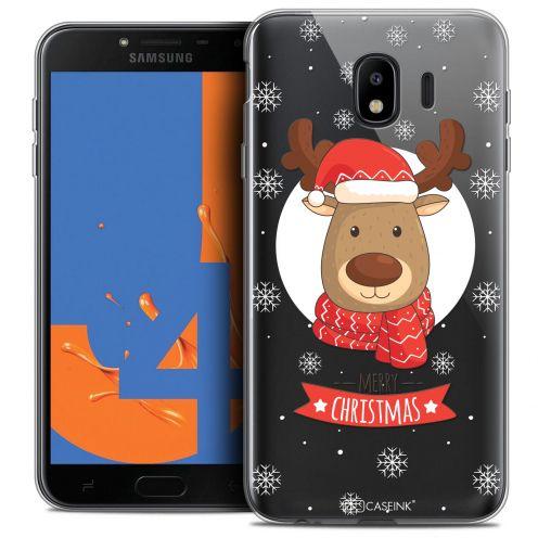 "Coque Crystal Gel Samsung Galaxy J4 2018 J400 (5.5"") Extra Fine Noël 2017 - Cerf à Echarpe"