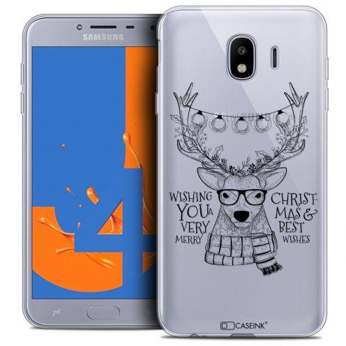 "Coque Crystal Gel Samsung Galaxy J4 2018 J400 (5.5"") Extra Fine Noël 2017 - Cerf Hipster"