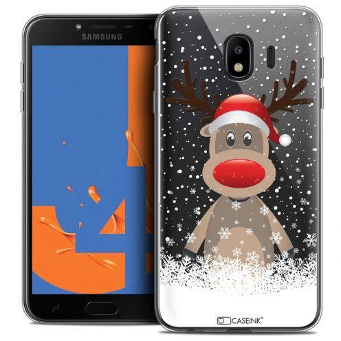 """Coque Crystal Gel Samsung Galaxy J4 2018 J400 (5.5"""") Extra Fine Noël 2017 - Cerf au Bonnet"""